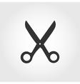 Scissors icon flat design vector image vector image