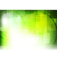 Green tech geometric background vector image vector image