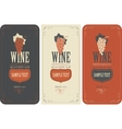 labels for wine with grapes vector image vector image