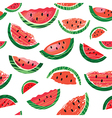 Watermelon slice seamless pattern illus vector image vector image
