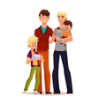 family gay men with children vector image