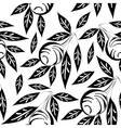 black and white olive pattern vector image