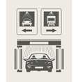 Car wash Set of icons vector image
