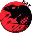 Chinese Horoscope rat vector image