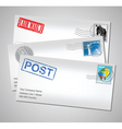envelopes with stamps vector image