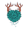Heart of leaves with horns vector image