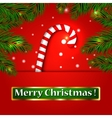 Merry Christmas candy on a background vector image