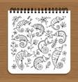 notebook design hameleon set vector image
