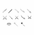 old swords and weapons vector image