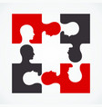 people four puzzle concept vector image