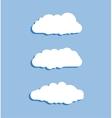 Set of blue sky clouds Cloud icon cloud shape vector image