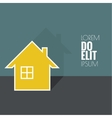 The symbol of a dwelling house vector image