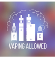 Vape icons set2 vector image