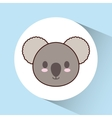 Kawaii koala icon Cute animal graphic vector image