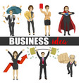 business people idea set characters vector image