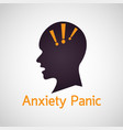 anxiety panic icon vector image