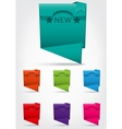 Set of colorful banner with NEW text and star vector image