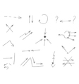 gray arrows drawn by hand vector image