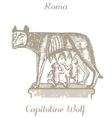 Capitoline Wolf vector image