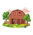 Farm low poly icon vector image