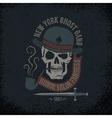 Gangster grunge logo vector image