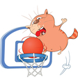 Cute Cat Basketball Player vector image vector image