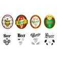 Beer popular brands labels icons set vector image