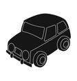 Car icon in black style isolated on white vector image