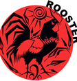 Chinese Horoscope rooster vector image