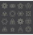 Collection of geometric shapes Design elements vector image