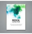 Colorful music festival concert template vector image