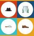 flat icon dress set of beach sandal panama male vector image