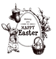 Happy Easter Drawn vector image