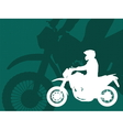 motorcyclistabstract background vector image