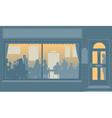 Restaurant window vector image