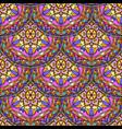 seamless pink floral mandala pattern vector image