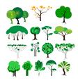 set of decorative tree vector image
