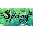Spring Quote Spring season or springtime vector image