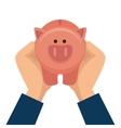piggy moneybox cartoon vector image