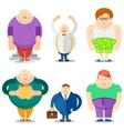 Fat Man Funny Cartoon Characters Set vector image