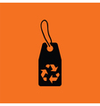 Tag and recycle sign icon vector image