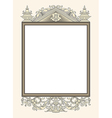 vintage photo frame ornamental vector image