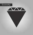 black and white style icon diamond vector image