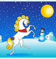 horse winter vector image vector image