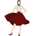 Chic Girl vector image