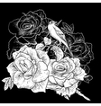 Beautiful Rose Background with Birds vector image