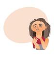 woman having sore throat flu influenza vector image vector image