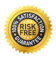 risk-free guarantee label vector image vector image