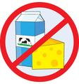 no dairy vector image