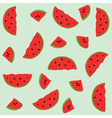 Seamless pattern with elements of watermelons vector image vector image